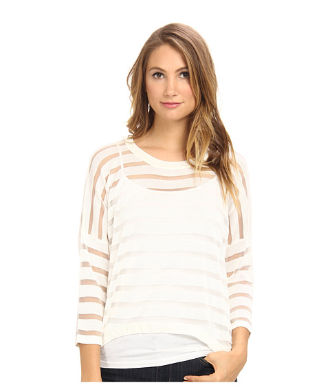 Brigitte Bailey - Striped Sweater (White) Women