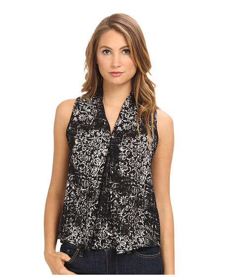 Brigitte Bailey - Chiffon Sleeveless Top (Black) Women's Sleeveless