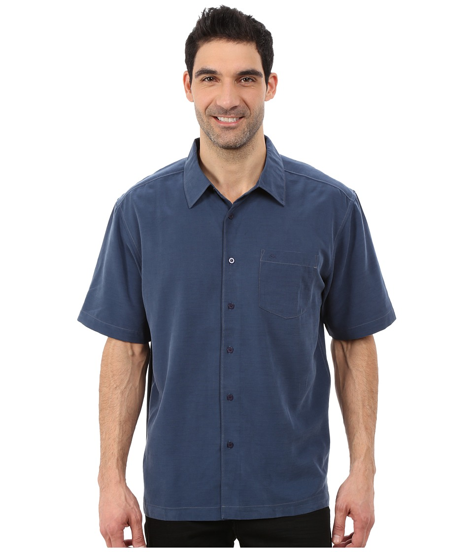 Quiksilver Waterman - Clear Days 4 Traditional Polynosic Woven Top (Night) Men's Clothing