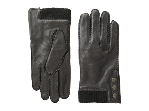 John Varvatos Star U.S.A. - Logo Snap (Black) Extreme Cold Weather Gloves