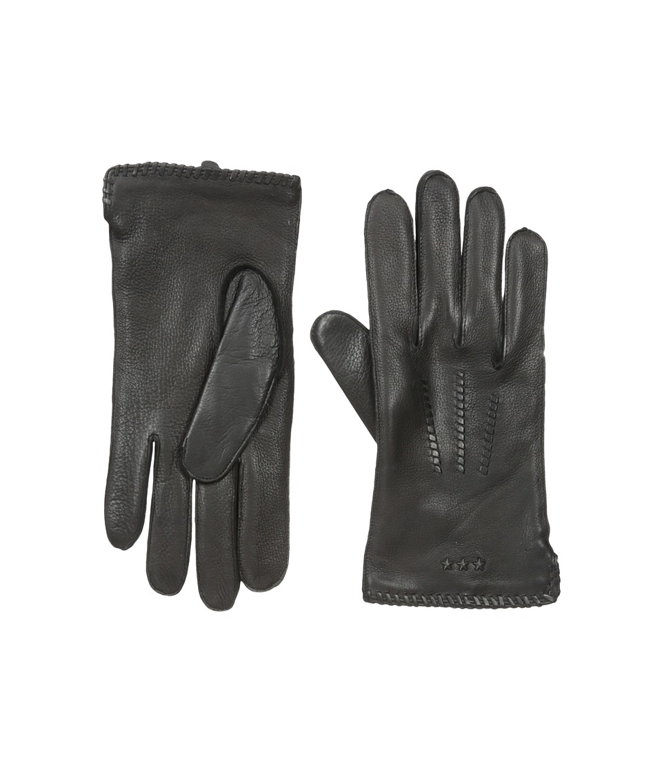 John Varvatos Star U.S.A. - Whip Stitch Basic (Black) Extreme Cold Weather Gloves