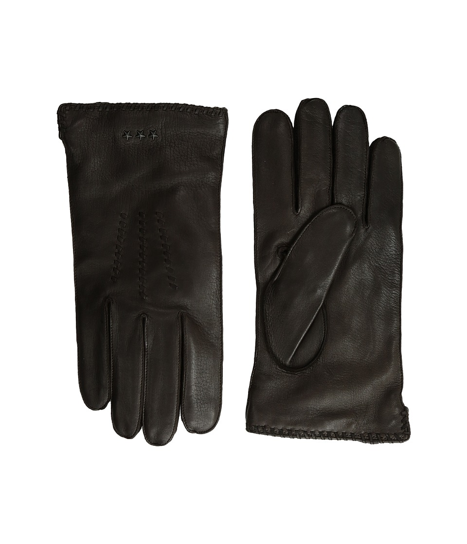 John Varvatos Star U.S.A. - Whip Stitch Basic (Chocolate) Extreme Cold Weather Gloves