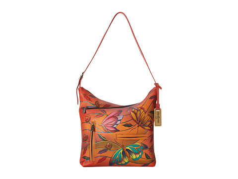 Anuschka Handbags - 357 (Angel Wings Tangerine) Hobo Handbags