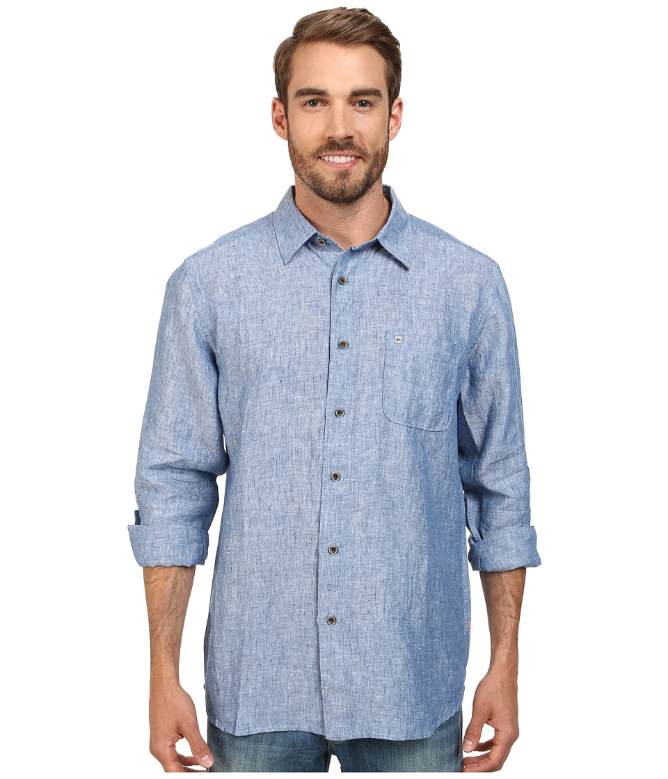 Quiksilver Waterman - Burgess Isle Traditional Woven Top (Indigo) Men's Clothing