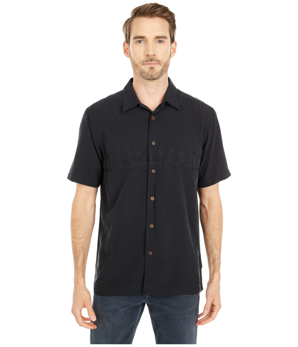 Quiksilver Waterman - Tahiti Palms 4 Traditional Polynosic Woven Top (Black) Men's Clothing