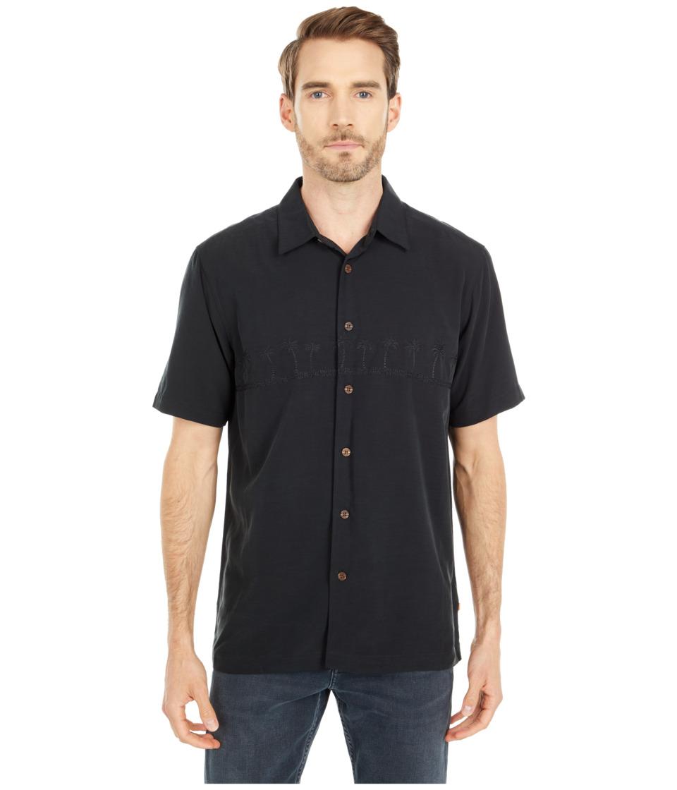 Quiksilver Waterman - Tahiti Palms 4 Traditional Polynosic Woven Top (Black) Men's Clothing