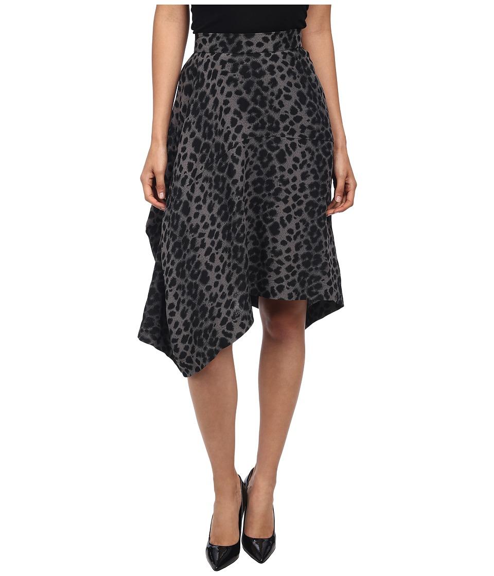 Vivienne Westwood Anglomania - Prosperity Skirt (Grey/Black Leopard) Women's Skirt