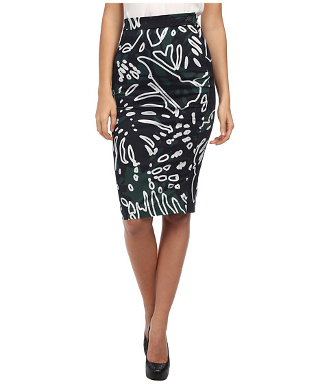 Vivienne Westwood Anglomania - Basic Pencil Skirt (Forest/Grey Cheeseplant) Women's Skirt