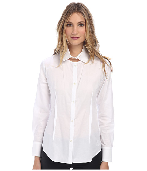 Vivienne Westwood Anglomania - Cut In Shirt (Optical White) Women's Long Sleeve Button Up