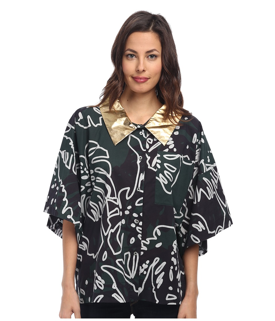 Vivienne Westwood - Hawaiian Elephant Shirt (Forest/Grey Cheeseplant) Women's Clothing