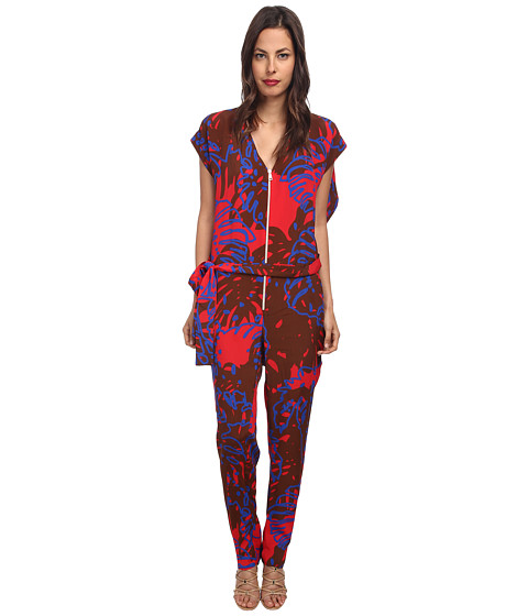 Vivienne Westwood Anglomania - Hope Romper (Red/Brown Cheeseplant) Women