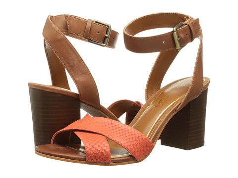 Enzo Angiolini - Gabele (Red/Brown Leather) Women's Dress Sandals