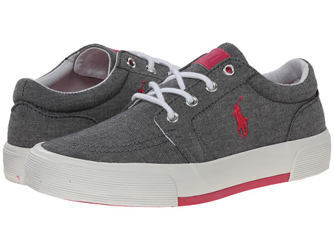 Polo Ralph Lauren Kids - Faxon II (Big Kid) (Grey Chambray/Pink Pony) Kid