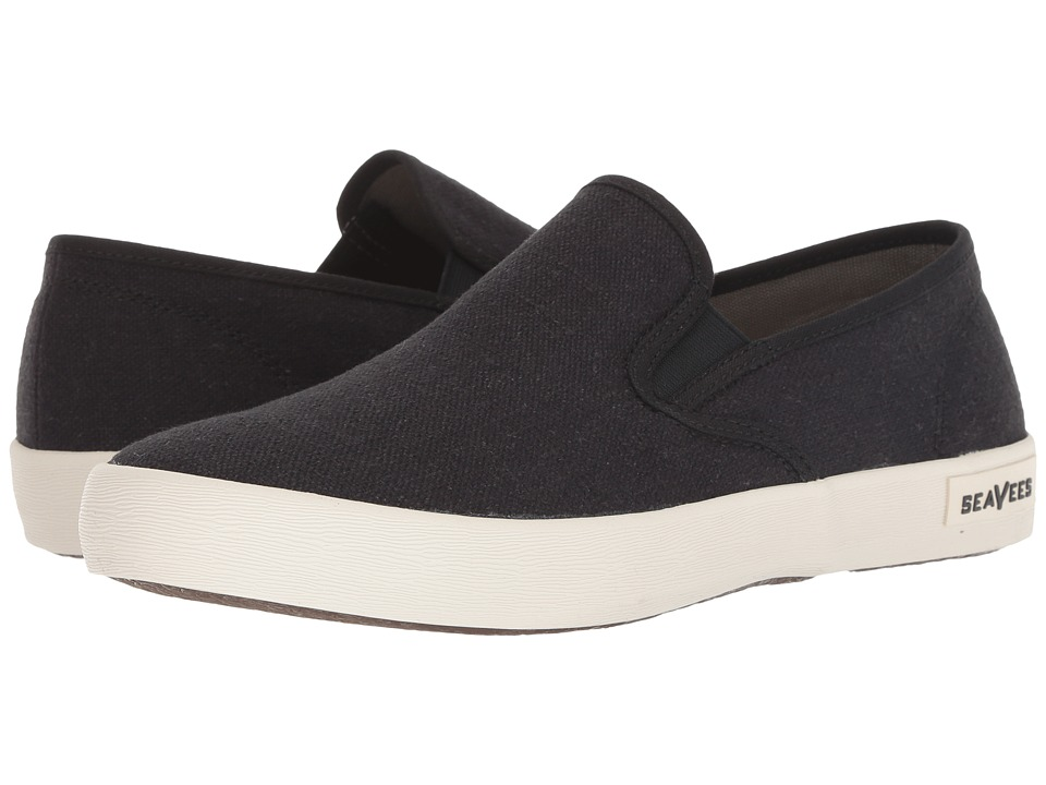 SeaVees - 02/64 Baja Slip-on Standard (Black) Men's Shoes