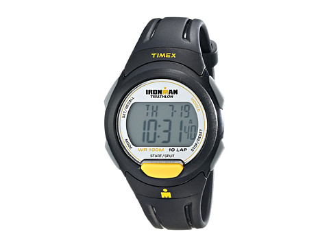 Timex - Ironman Traditional 10-Lap Full-Size Resin Strap Watch (Yellow/Gray/Black) Watches