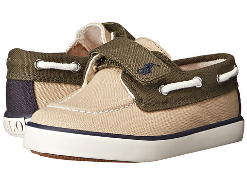 Polo Ralph Lauren Kids - Sander EZ (Toddler) (Khaki/Army/Navy) Kid's Shoes