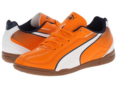 Puma Kids - Esquadra IT JR (Little Kid/Big Kid) (Vibrant Orange/White/Peacoat) Kids Shoes