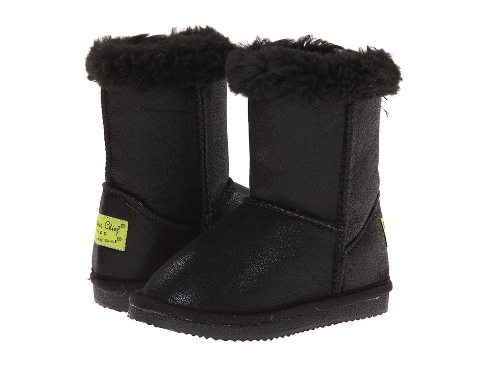 Western Chief Kids - Shimmer Boot (Toddler/Little Kid) (Black) Girls Shoes