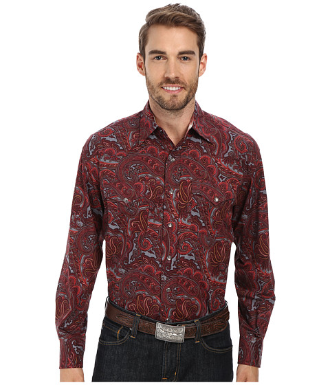Stetson - Atlantis Paisley Print On Poplin (Red 1) Men