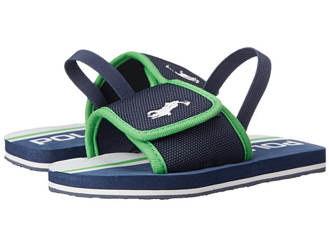 Polo Ralph Lauren Kids - Ferry Slide II (Toddler) (Navy Nylon-Green) Kid
