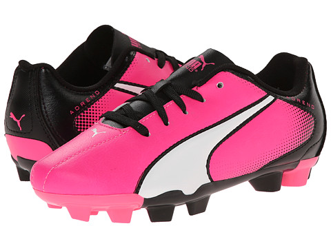 Puma Kids - Adreno FG Jr (Little Kid/Big Kid) (Knockout Pink/White/Black) Kids Shoes