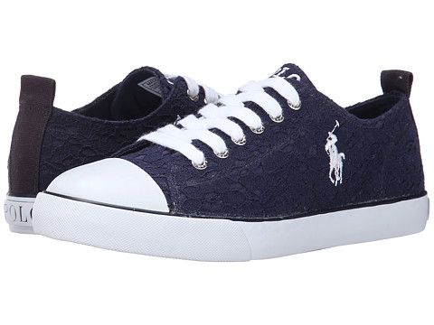 Polo Ralph Lauren Kids - Harbour Low (Big Kid) (Navy Lace) Girls Shoes