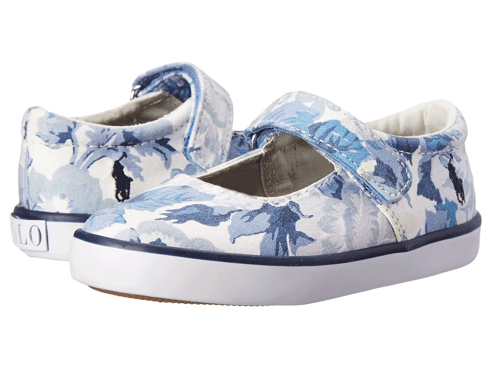 Polo Ralph Lauren Kids - Sandy MJ (Toddler) (Light Blue Floral) Girls Shoes
