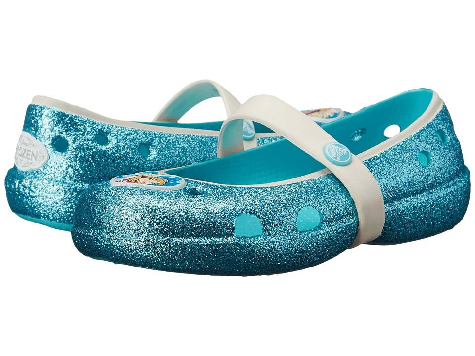 Crocs Kids - Keeley Frozen Flat (Pool) Girl's Shoes