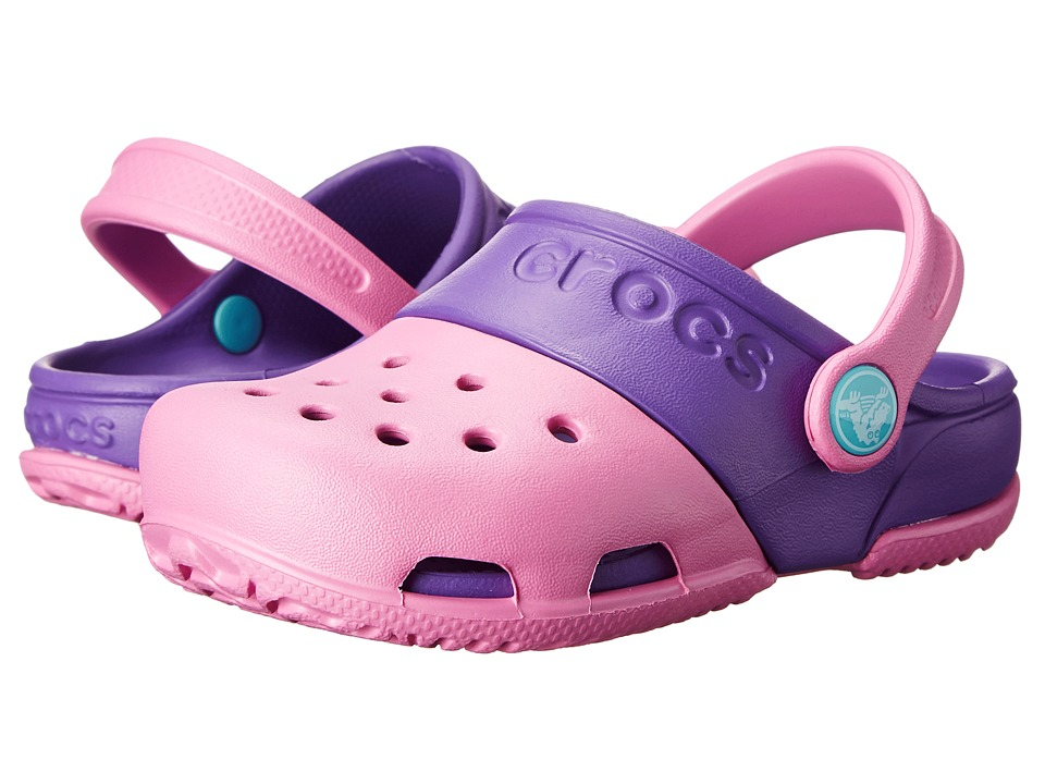 Crocs Kids - Crocs Kids - Electro II Clog (Toddler/Little Kid) (Party Pink/Neon Purple) Girls Shoes