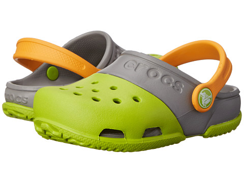 Crocs Kids - Crocs Kids - Electro II Clog (Toddler/Little Kid) (Volt Green/Smoke) Kids Shoes