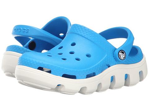 Crocs Kids - Duet Sport Clog (Toddler/Little Kid) (Ocean/White) Kids Shoes