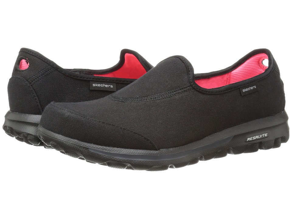 SKECHERS Performance - Go Walk - Extend (Black) Women's Flat Shoes