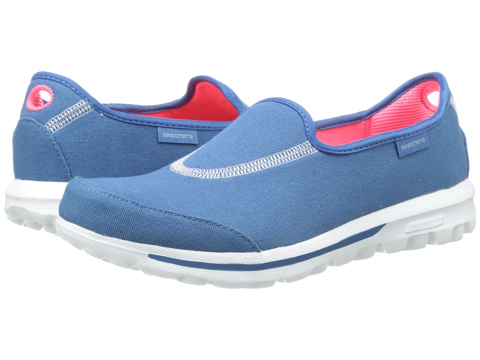 SKECHERS Performance - Go Walk - Extend (Blue) Women's Flat Shoes