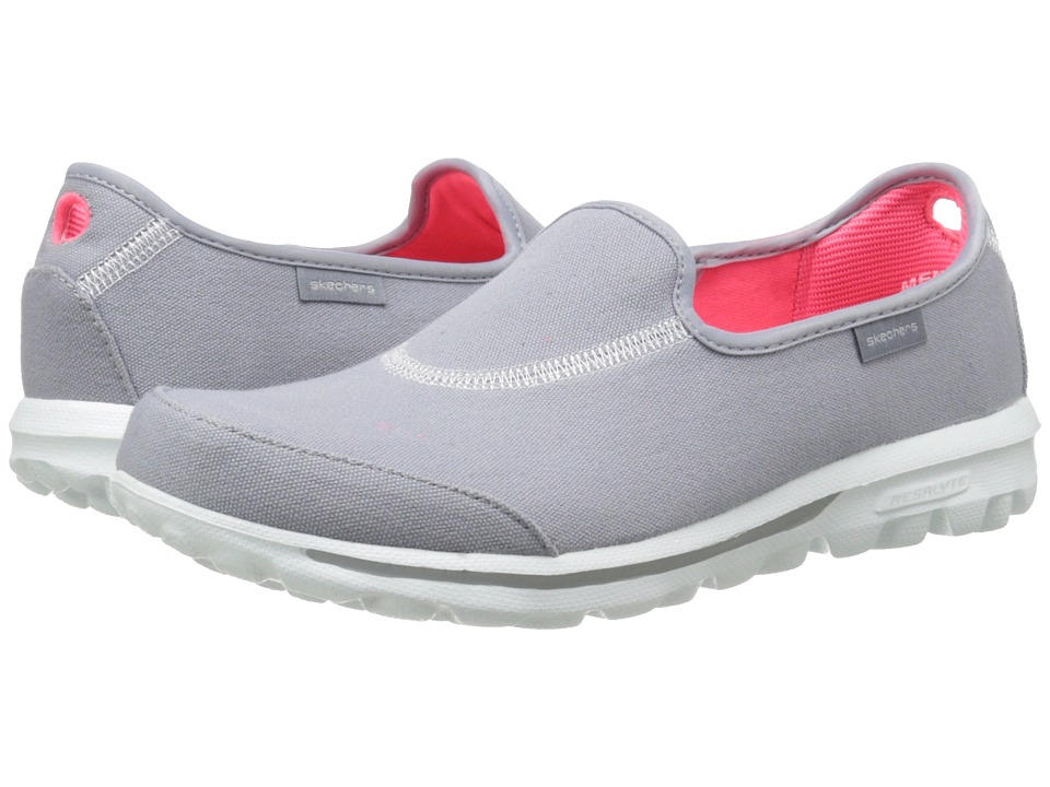 SKECHERS Performance - Go Walk - Extend (Gray) Women's Flat Shoes