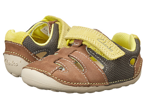 Clarks Kids - Tiny Artie (Infant/Toddler) (Grey) Boy