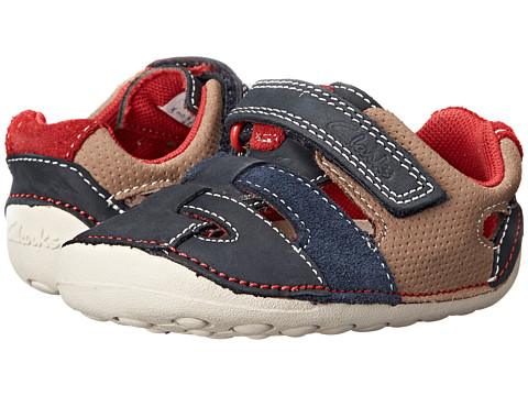 Clarks Kids - Tiny Artie (Infant/Toddler) (Navy) Boy's Shoes