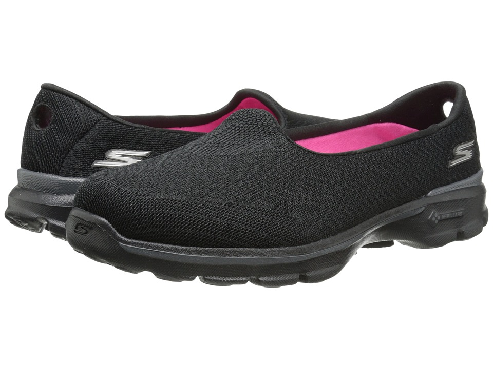 SKECHERS Performance - Go Walk 3 - Insight (Black) Women's Flat Shoes