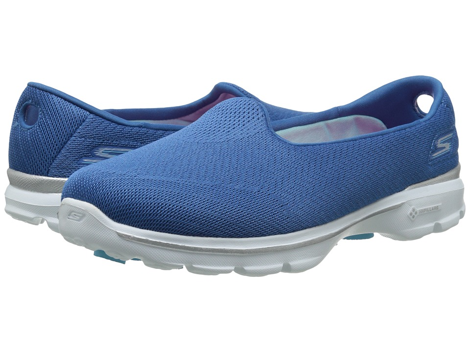 SKECHERS Performance - Go Walk 3 - Insight (Blue) Women's Flat Shoes