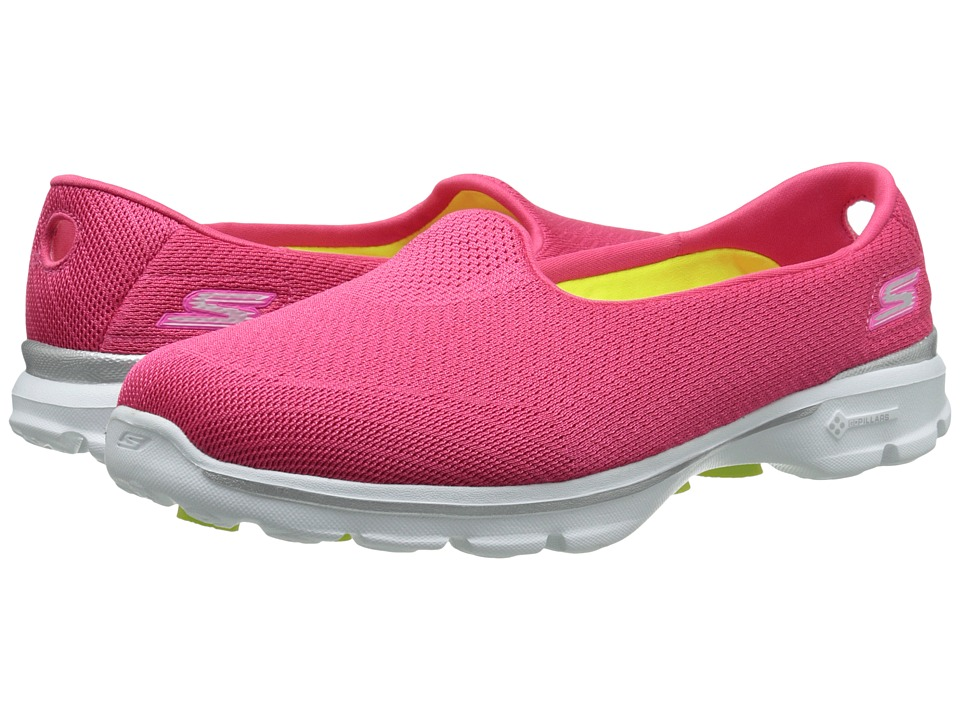 SKECHERS Performance Go Walk 3 Insight (Hot Pink) Women