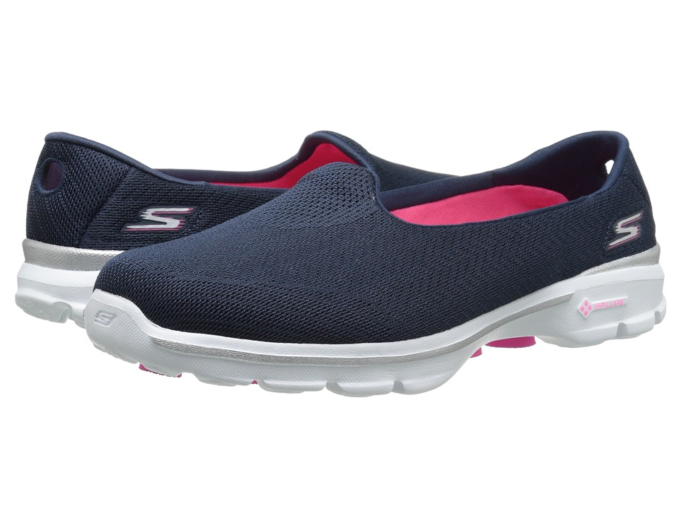SKECHERS Performance - Go Walk 3 - Insight (Navy) Women's Flat Shoes