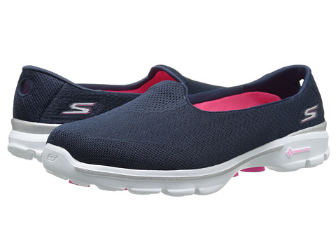 SKECHERS Performance - Go Walk 3 - Insight (Navy) Women