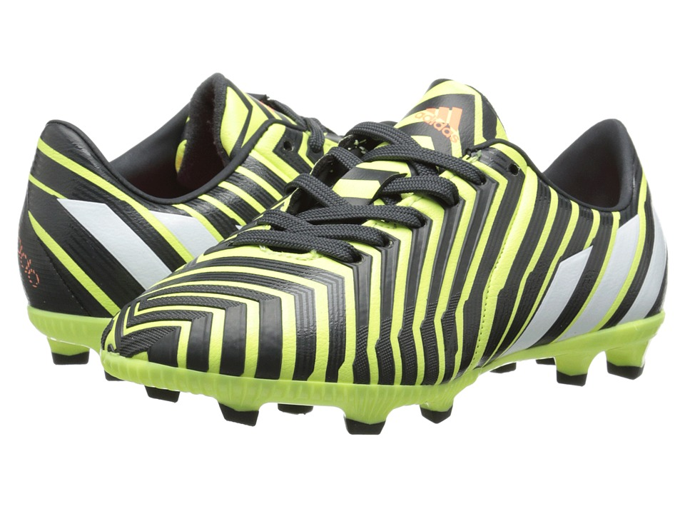 adidas Kids - Predator Absolado Instinct FG J (Little Kid/Big Kid) (Light Flash Yellow/White/Dark Grey) Kids Shoes