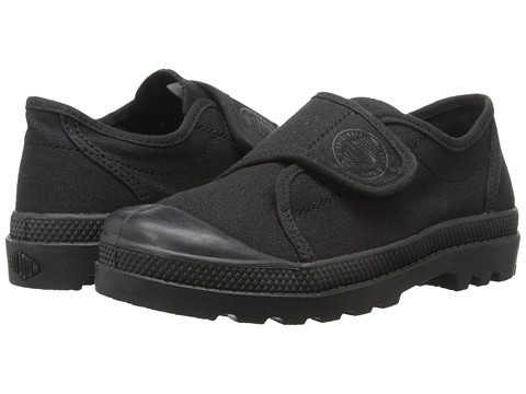 Palladium Kids - Pampa Ox Velcro (Little Kid) (Black/White) Kid's Shoes