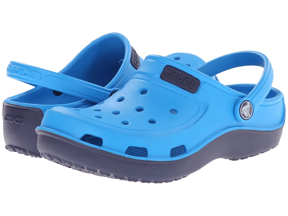 Crocs Kids - Duet Wave Clog (Toddler/Little Kid) (Ocean/Nautical Navy) Kids Shoes