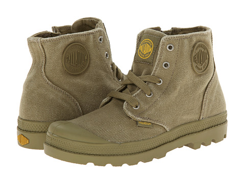 Palladium Kids - Pampa Hi Zipper (Little Kid) (Sage/Old Gold) Boys Shoes