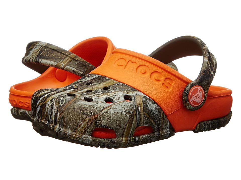 Crocs Kids - Electro II Realtree(r) Xtra (Toddler/Little Kid) (Chocolate/Orange) Kid's Shoes
