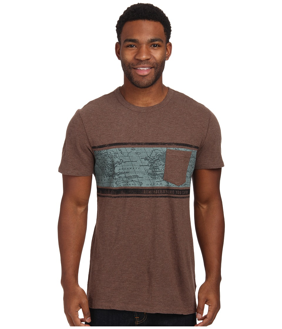 Life is good - Slub Pocket Tee (Heather Dark Brown) Men's T Shirt