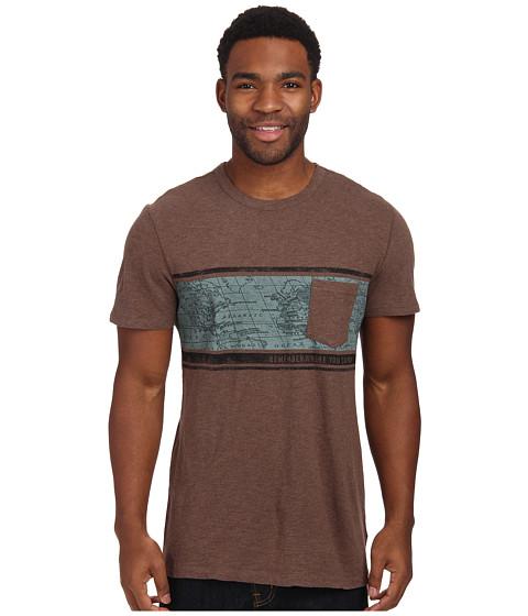 Life is good - Slub Pocket Tee (Heather Dark Brown) Men's T Shirt