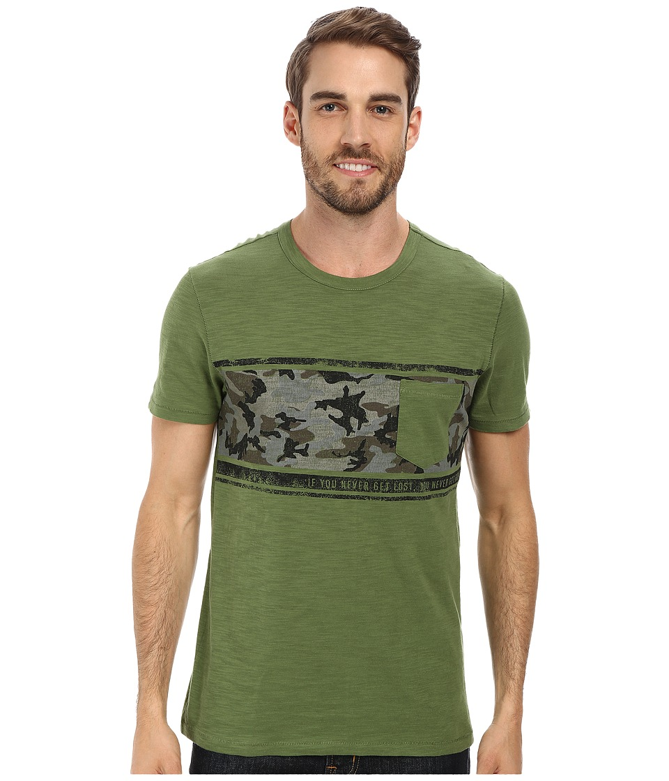 Life is good - Slub Pocket Tee (Grassy Green) Men
