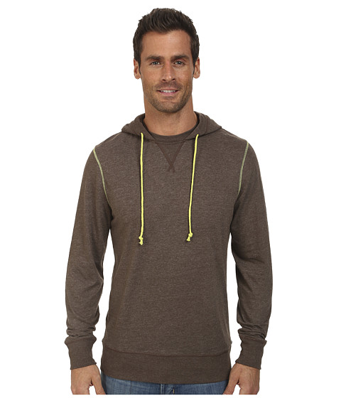 Life is good - Sport Hoodie Tee (Dark Brown) Men